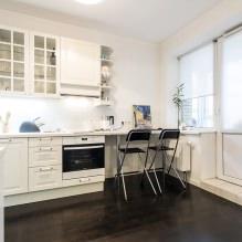 Дизайн кухни с барной стойкой: 60 современных фото в интерьере - 43