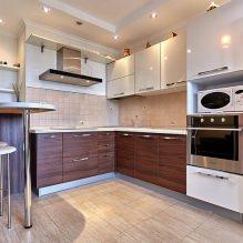 Дизайн кухни с барной стойкой: 60 современных фото в интерьере - 53