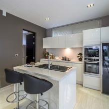 Дизайн кухни с барной стойкой: 60 современных фото в интерьере - 47