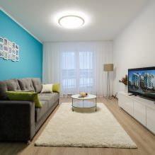 Натяжные потолки в гостиной: виды, дизайн, освещение, 60 фото в интерьере-9