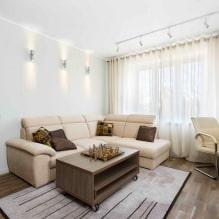 Натяжные потолки в гостиной: виды, дизайн, освещение, 60 фото в интерьере-5