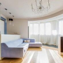 Натяжные потолки в гостиной: виды, дизайн, освещение, 60 фото в интерьере-8