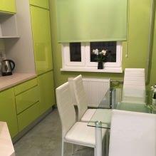 Дизайн кухни с зелеными обоями: 55 современных фото в интерьере - 40