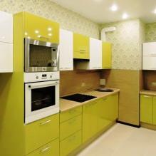 Дизайн кухни с зелеными обоями: 55 современных фото в интерьере - 54
