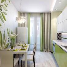 Дизайн кухни с зелеными обоями: 55 современных фото в интерьере - 55