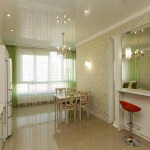 Дизайн кухни с зелеными обоями: 55 современных фото в интерьере - 47