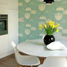 Дизайн кухни с зелеными обоями: 55 современных фото в интерьере - 42