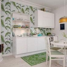 Дизайн кухни с зелеными обоями: 55 современных фото в интерьере - 46