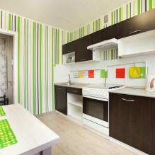 Дизайн кухни с зелеными обоями: 55 современных фото в интерьере - 45
