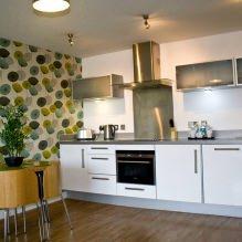 Дизайн кухни с зелеными обоями: 55 современных фото в интерьере - 41