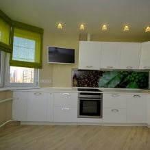 Дизайн кухни с зелеными обоями: 55 современных фото в интерьере - 53
