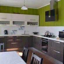 Дизайн кухни с зелеными обоями: 55 современных фото в интерьере - 48