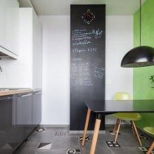 Дизайн кухни с зелеными обоями: 55 современных фото в интерьере - 50