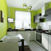 Дизайн кухни с зелеными обоями: 55 современных фото в интерьере - 51