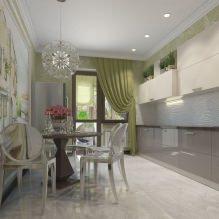 Дизайн кухни с зелеными обоями: 55 современных фото в интерьере - 52
