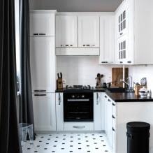 Дизайн белой кухни с черной столешницей: 80 лучших идей, фото в интерьере - 69