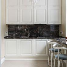 Дизайн белой кухни с черной столешницей: 80 лучших идей, фото в интерьере - 57