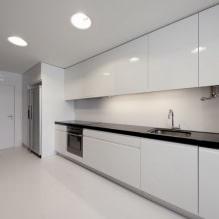 Дизайн белой кухни с черной столешницей: 80 лучших идей, фото в интерьере - 76