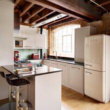 Дизайн белой кухни с черной столешницей: 80 лучших идей, фото в интерьере - 79
