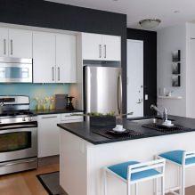 Дизайн белой кухни с черной столешницей: 80 лучших идей, фото в интерьере - 67