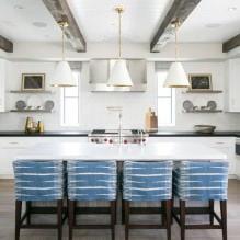 Дизайн белой кухни с черной столешницей: 80 лучших идей, фото в интерьере - 68