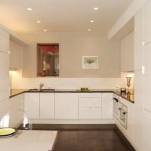 Дизайн белой кухни с черной столешницей: 80 лучших идей, фото в интерьере - 70
