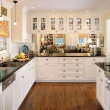Дизайн белой кухни с черной столешницей: 80 лучших идей, фото в интерьере - 73