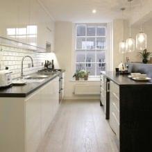 Дизайн белой кухни с черной столешницей: 80 лучших идей, фото в интерьере - 58