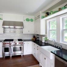 Дизайн белой кухни с черной столешницей: 80 лучших идей, фото в интерьере - 74
