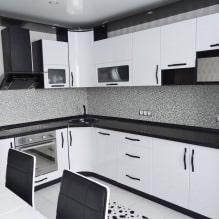 Дизайн белой кухни с черной столешницей: 80 лучших идей, фото в интерьере - 64