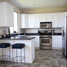 Дизайн белой кухни с черной столешницей: 80 лучших идей, фото в интерьере - 54