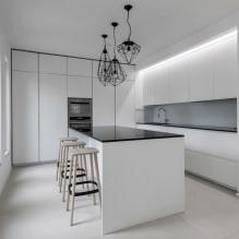 Дизайн белой кухни с черной столешницей: 80 лучших идей, фото в интерьере - 71
