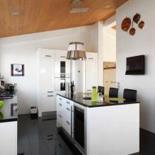 Дизайн белой кухни с черной столешницей: 80 лучших идей, фото в интерьере - 60
