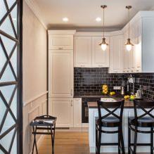 Дизайн белой кухни с черной столешницей: 80 лучших идей, фото в интерьере - 62
