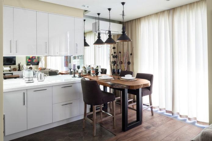 Шторы на кухню: виды, выбор дизайна и цвета, 90+ фото в интерьере