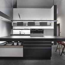 Черный гарнитур в интерьере в кухне: дизайн, выбор обоев, 90 фото - 62