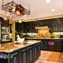 Черный гарнитур в интерьере в кухне: дизайн, выбор обоев, 90 фото - 64