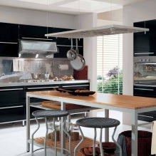Черный гарнитур в интерьере в кухне: дизайн, выбор обоев, 90 фото - 70