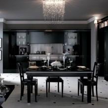 Черный гарнитур в интерьере в кухне: дизайн, выбор обоев, 90 фото - 68