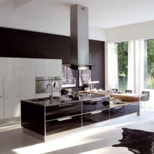 Черный гарнитур в интерьере в кухне: дизайн, выбор обоев, 90 фото - 83