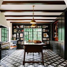 Черный гарнитур в интерьере в кухне: дизайн, выбор обоев, 90 фото - 69
