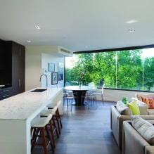 Черный гарнитур в интерьере в кухне: дизайн, выбор обоев, 90 фото - 67