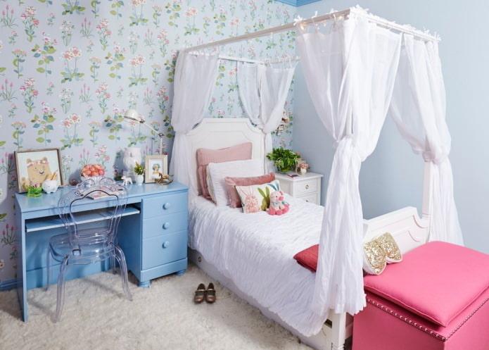 Интерьер детской спальни для девочки: особенности оформления, 60 фото