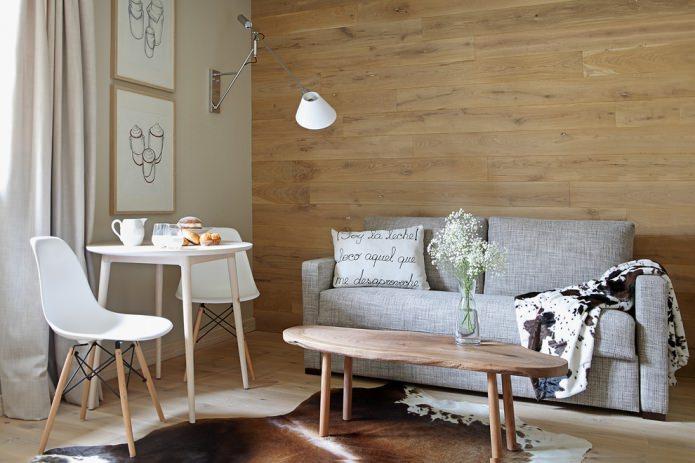 Интерьер с ламинатом на стене: современные идеи по отделке, 80 фото
