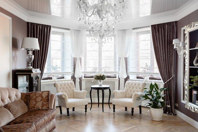 классика гостиная шторы