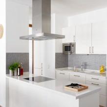 Белый кухонный гарнитур: особенности выбора, сочетания, 70 фото в интерьере - 49