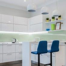 Белый кухонный гарнитур: особенности выбора, сочетания, 70 фото в интерьере - 68