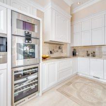 Белый кухонный гарнитур: особенности выбора, сочетания, 70 фото в интерьере - 70