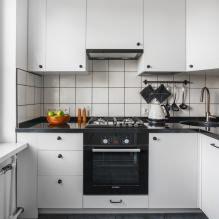 Белый кухонный гарнитур: особенности выбора, сочетания, 70 фото в интерьере - 65