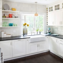 Белый кухонный гарнитур: особенности выбора, сочетания, 70 фото в интерьере - 66